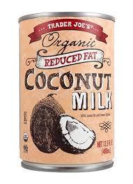 trader joe's reduced fat coconut milk