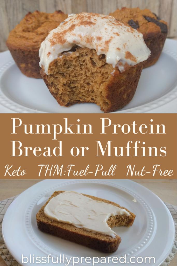 pumpkin protein bread or muffins