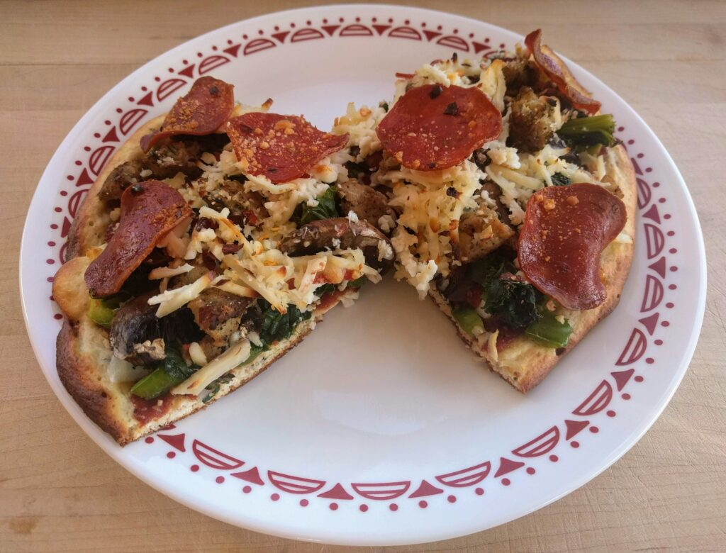 keto pizza slices