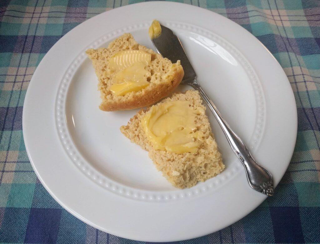 buttered keto dinner roll