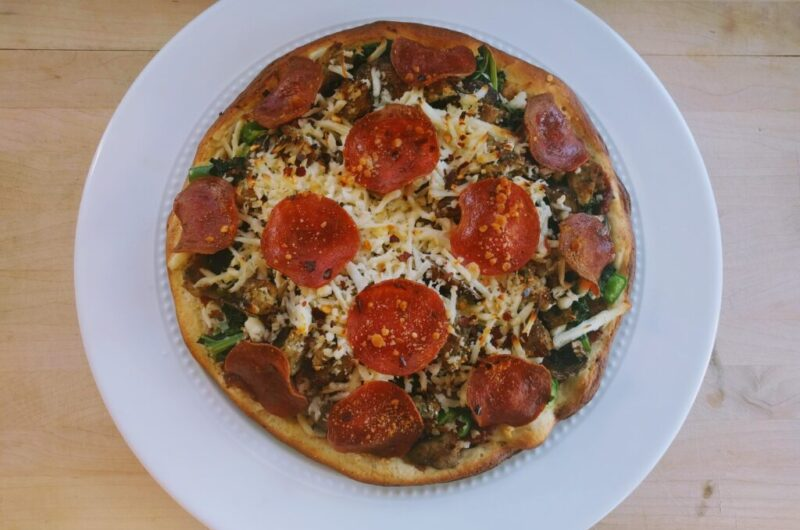 Keto Pizza THM-Fuel-Pull Gluten-Free Low-Fat