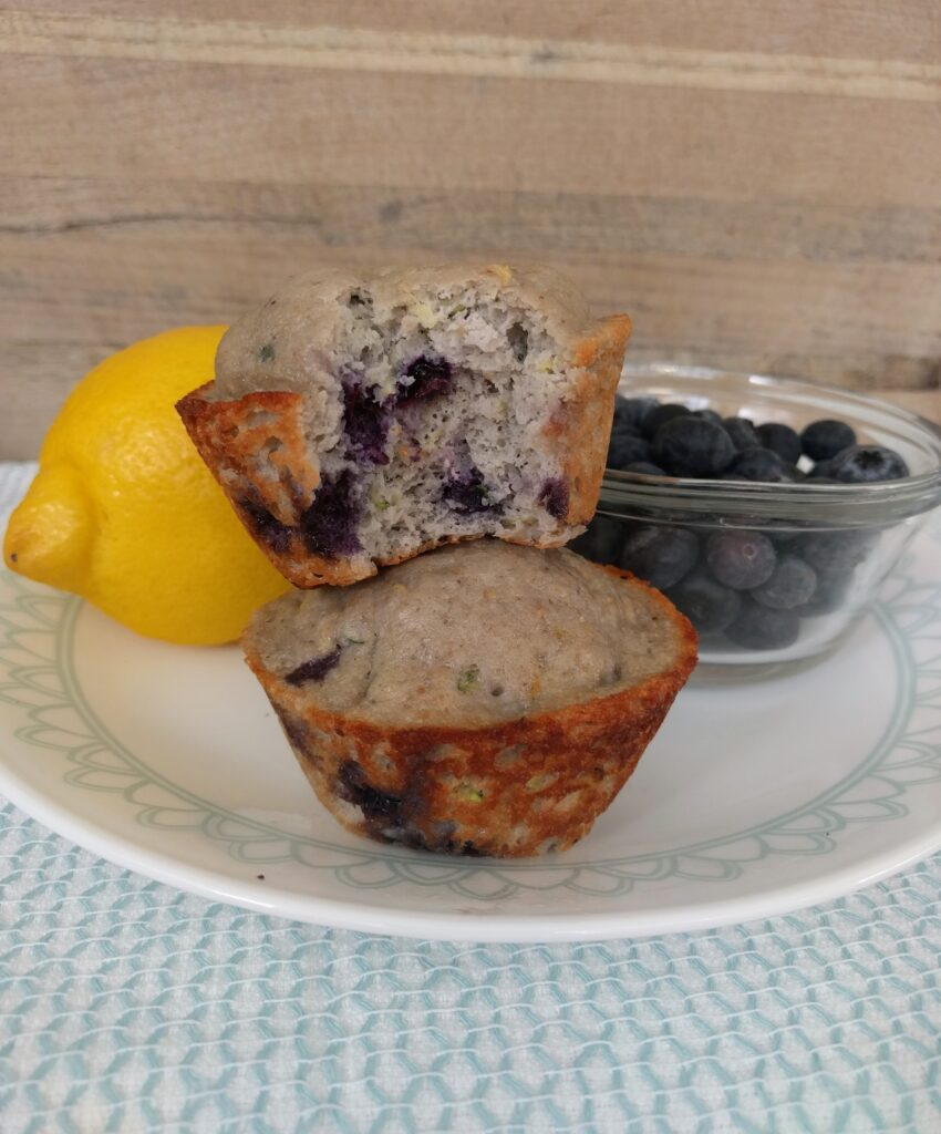 Lemon Blueberry Protein Muffins Keto THM-Fuel-Pull