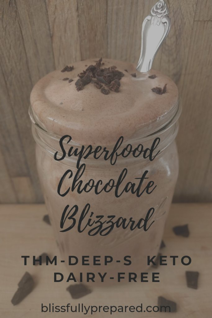pinterest pin superfood chocolate blizzard