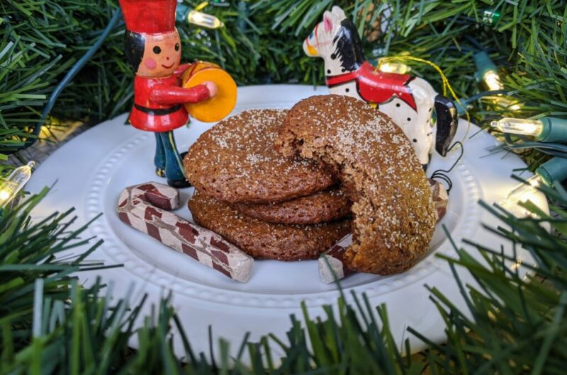 Chewy Gingerbread Collagen Cookies THM Fuel-Pull