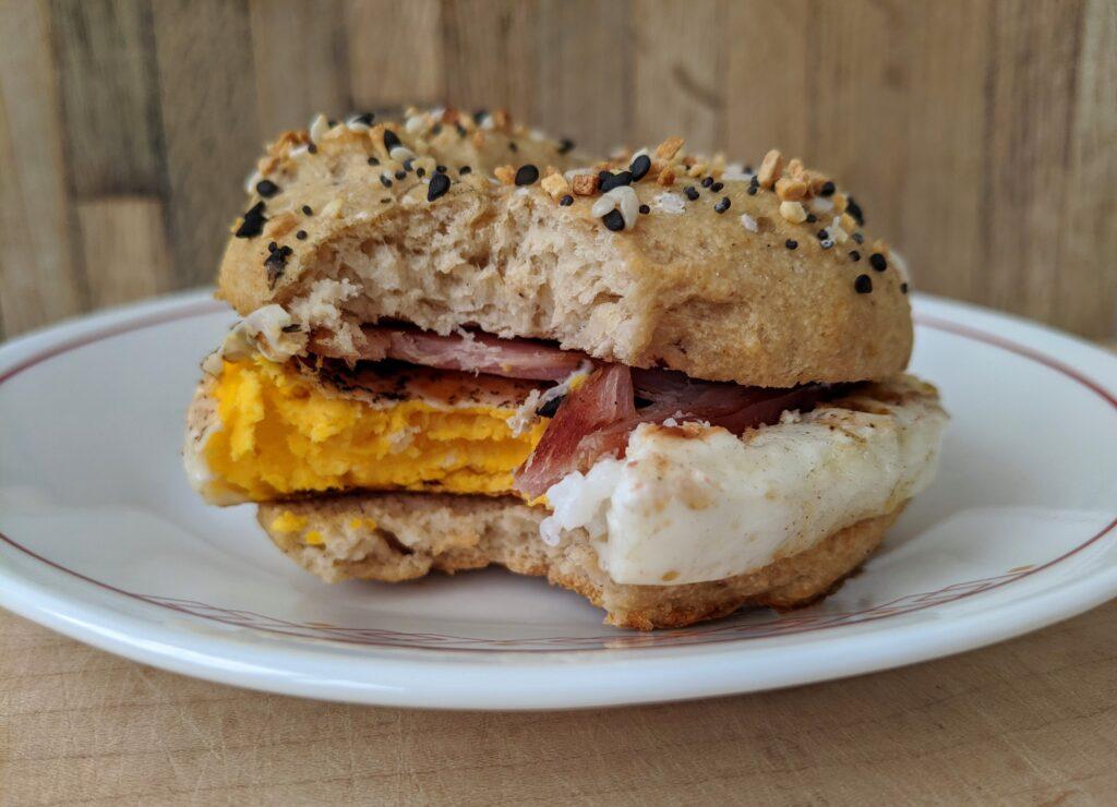 perfect keto bagel breakfast sandwich