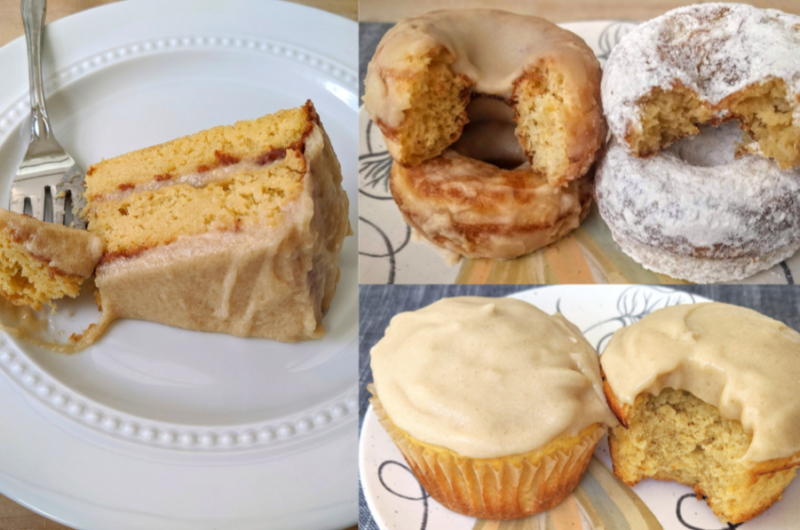 Vanilla Protein Donuts and Cake: THM Deep-S Keto
