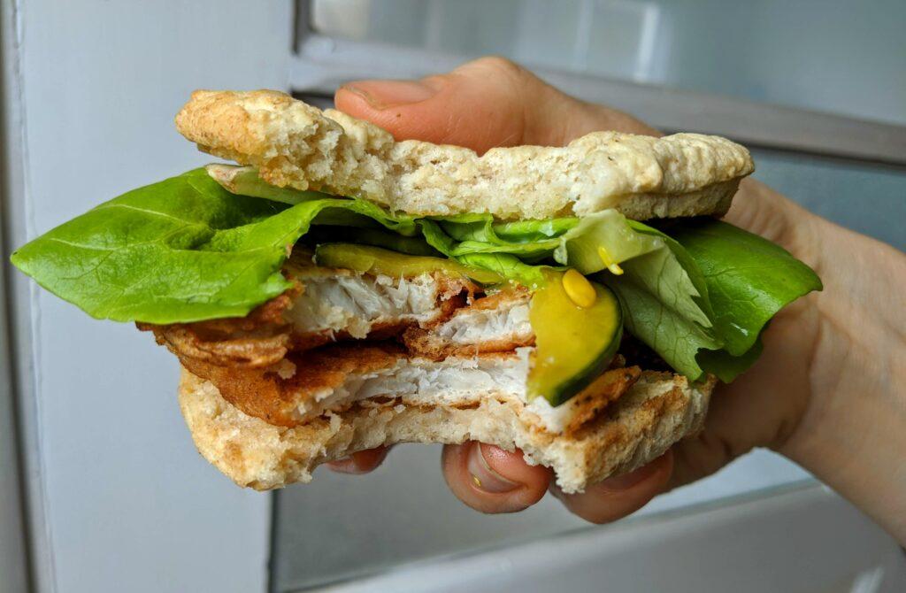 Fish sandwich on Collagen English Muffins