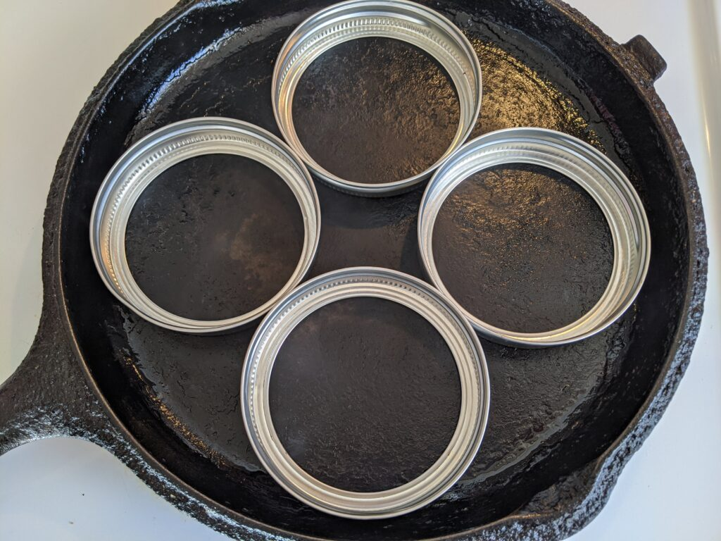Heating skillet for Collagen English Muffins