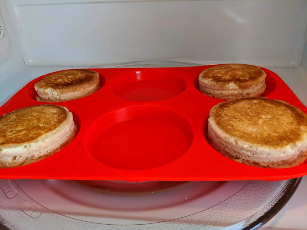 Transferring Collagen English Muffins to microwave