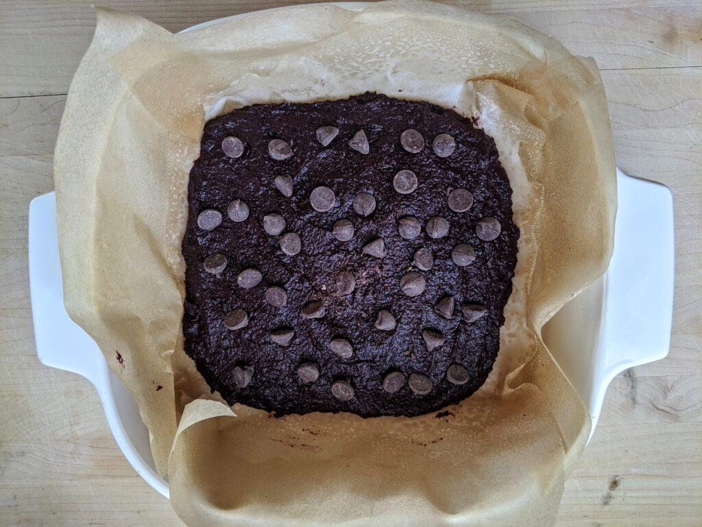 Collagen Beet Brownies before baking
