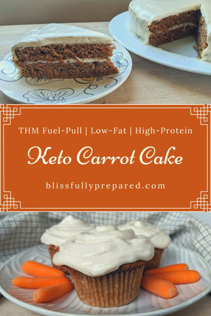 Keto Carrot Cake pinterest pin
