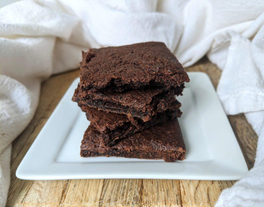 Fudgy Protein Cookies as brownies