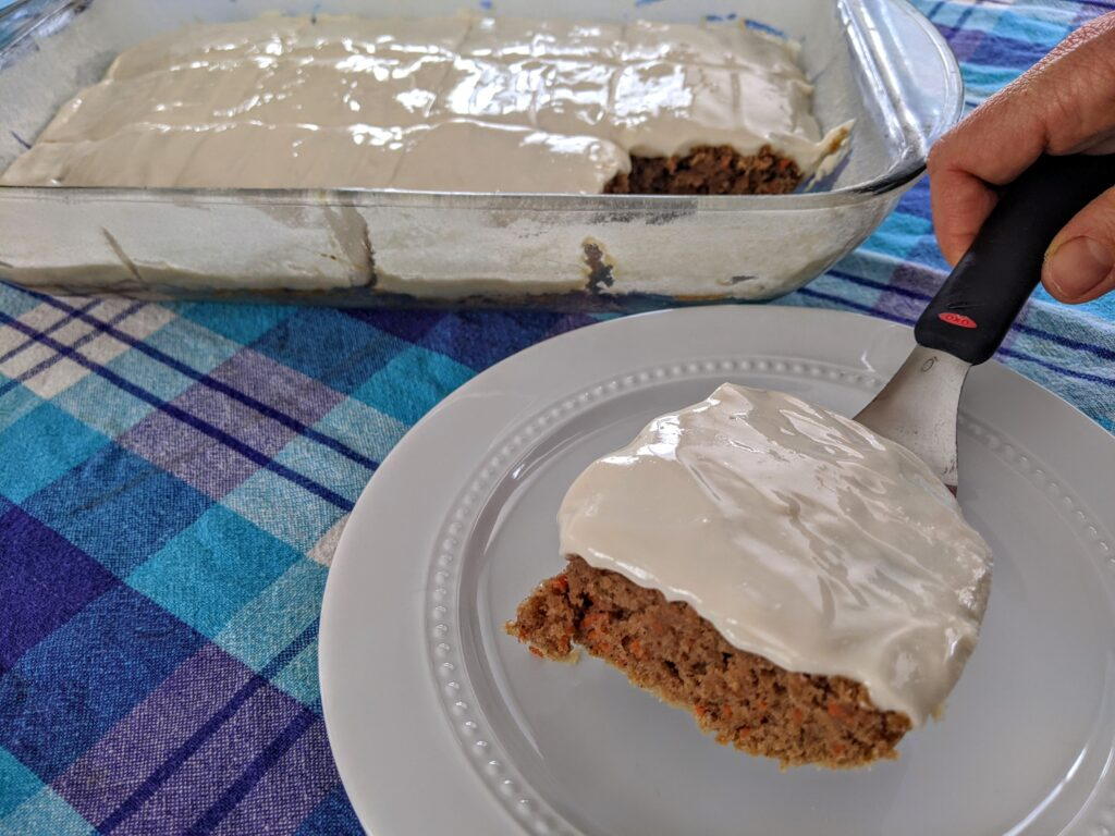 keto carrot cake sheet cake