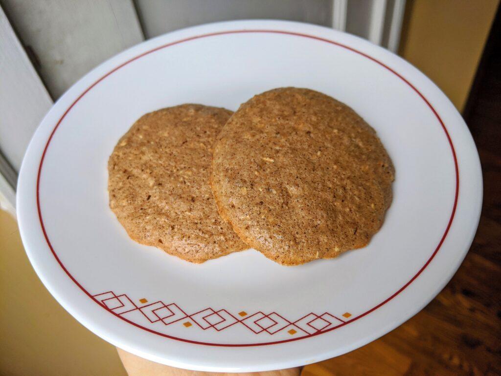 Keto Graham Crackers as breakfast cookies