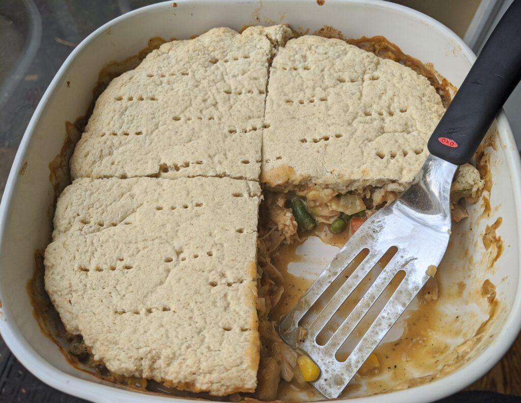 Collagen English Muffins in Chicken Pot Pie