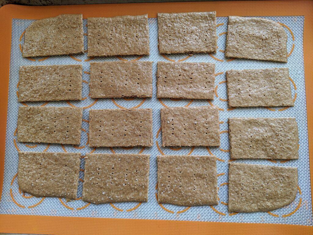 Keto Graham Crackers after baking